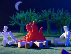 篝火 3D模型