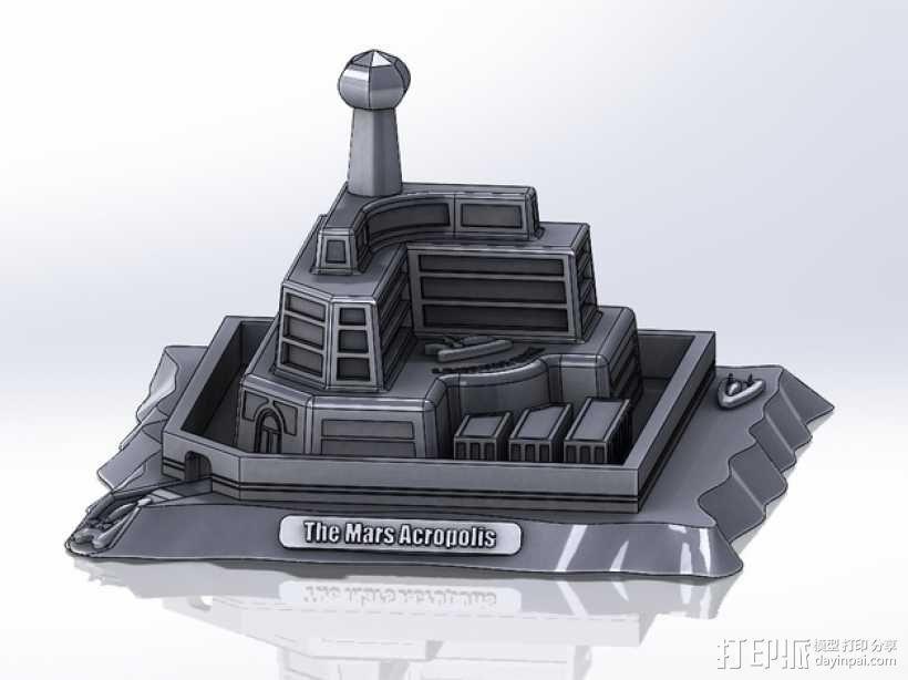 火星上的城堡 3D模型  图4
