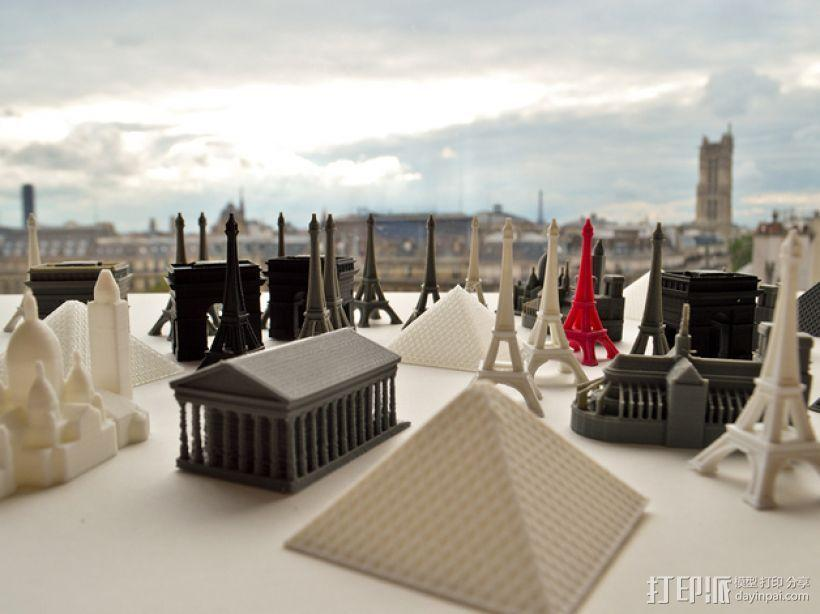 巴黎铁塔 3D模型  图1