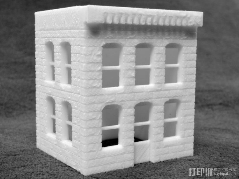模数法建筑 3D模型  图2