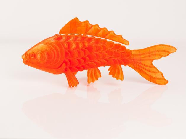 锦鲤 3D模型  图1