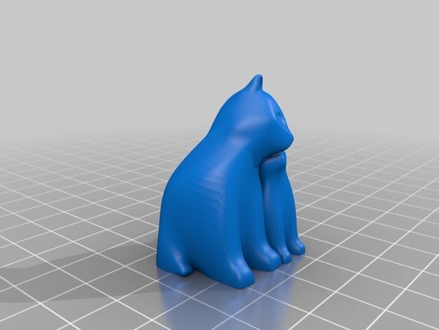 依偎着的猫 3D模型  图2