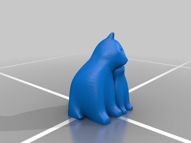 依偎着的猫 3D模型  图3