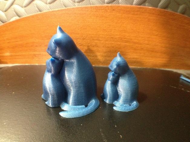 依偎着的猫 3D模型  图5