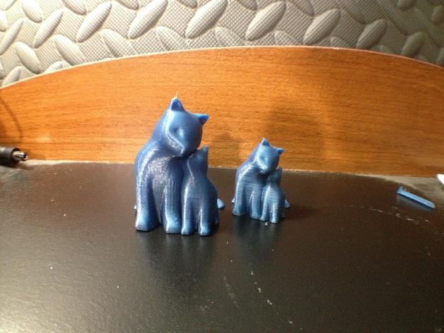 依偎着的猫 3D模型  图6