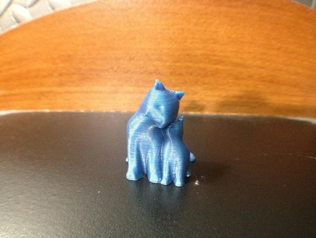 依偎着的猫 3D模型  图8