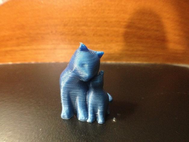 依偎着的猫 3D模型  图7
