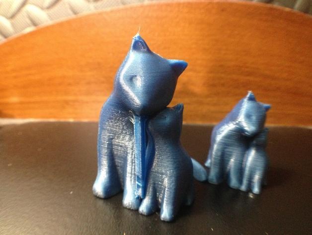 依偎着的猫 3D模型  图9