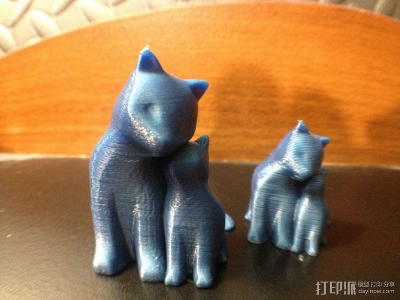 依偎着的猫 3D模型  图10