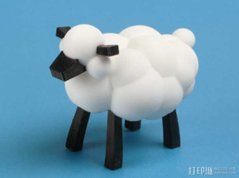 可爱的小绵羊 3D模型  图1