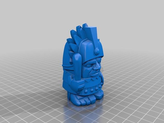 阿兹提克战酋 3D模型  图3