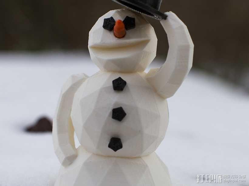 雪人 3D模型  图1