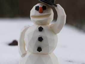雪人 3D模型