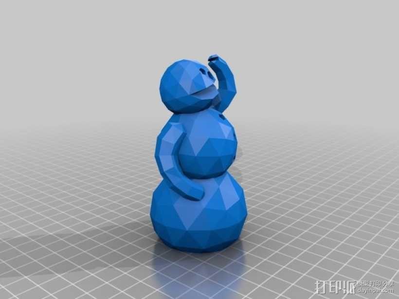 雪人 3D模型  图3