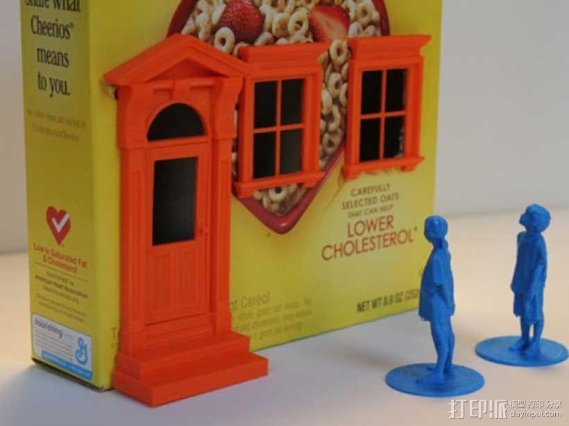 乡间小屋 3D模型  图1