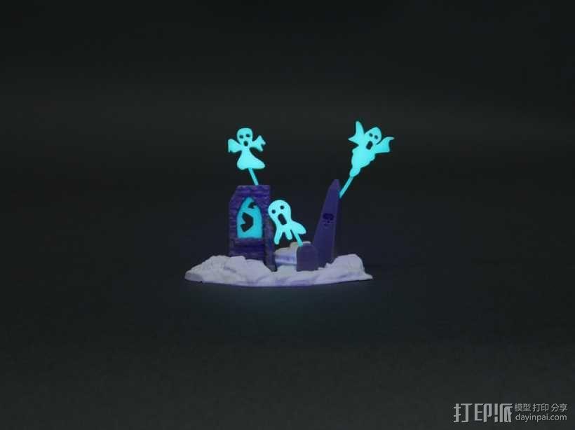 闹鬼的墓地 3D模型  图1