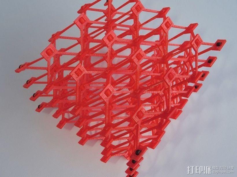 蜂窝结构模型 3D模型  图1