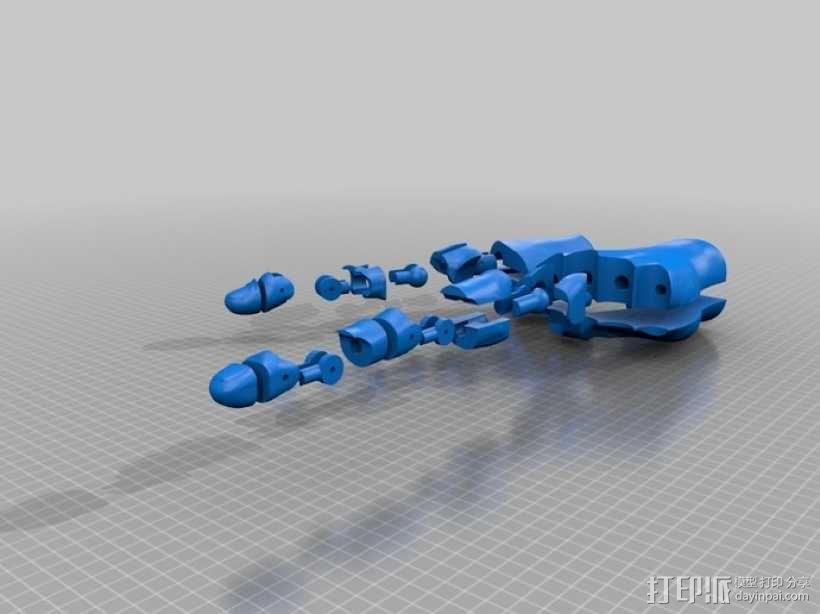 关节可活动的手模型 3D模型  图12