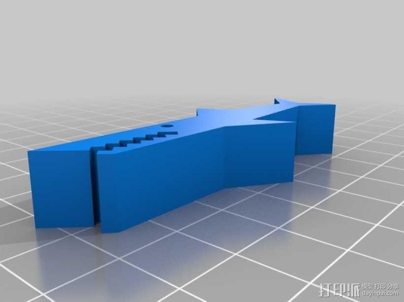 鳄鱼夹 3D模型  图3
