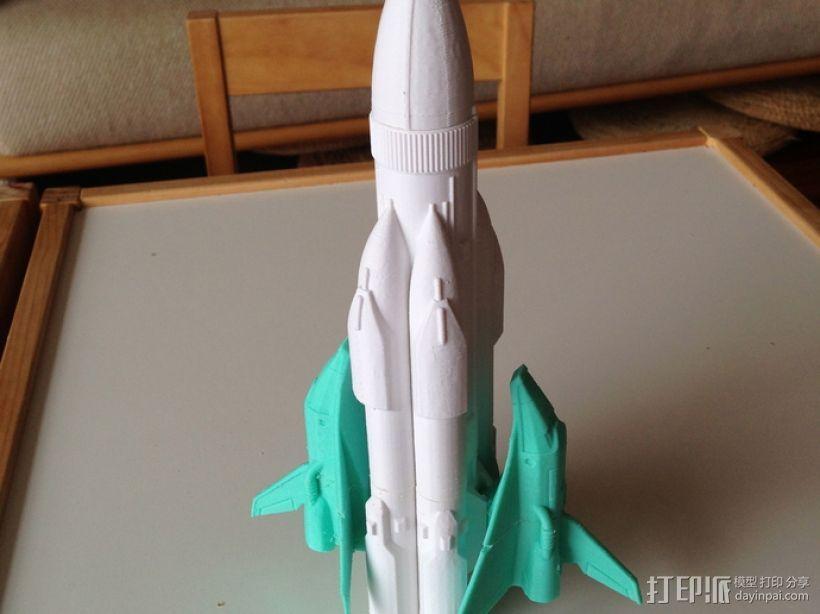 航天飞机运载火箭 3D模型  图1