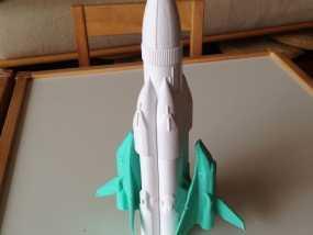 航天飞机运载火箭 3D模型