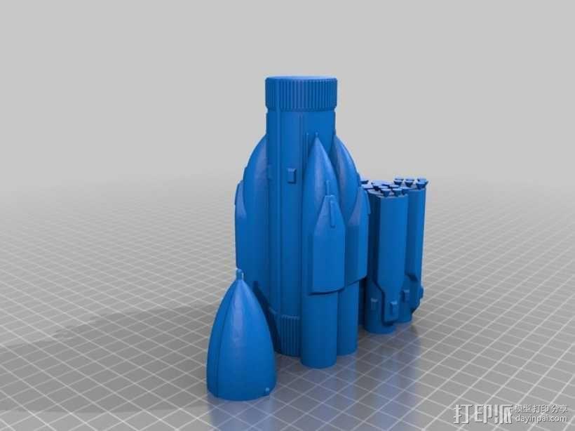 航天飞机运载火箭 3D模型  图5