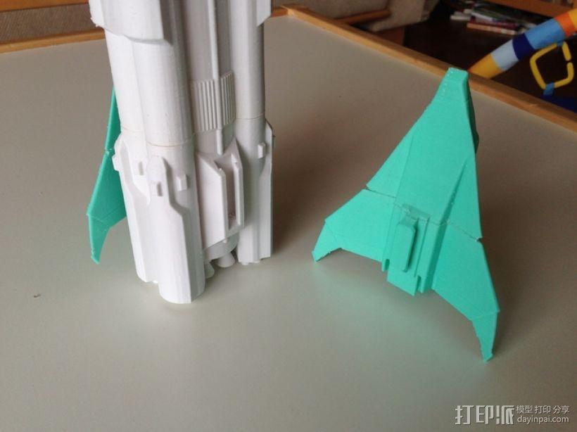 航天飞机运载火箭 3D模型  图7