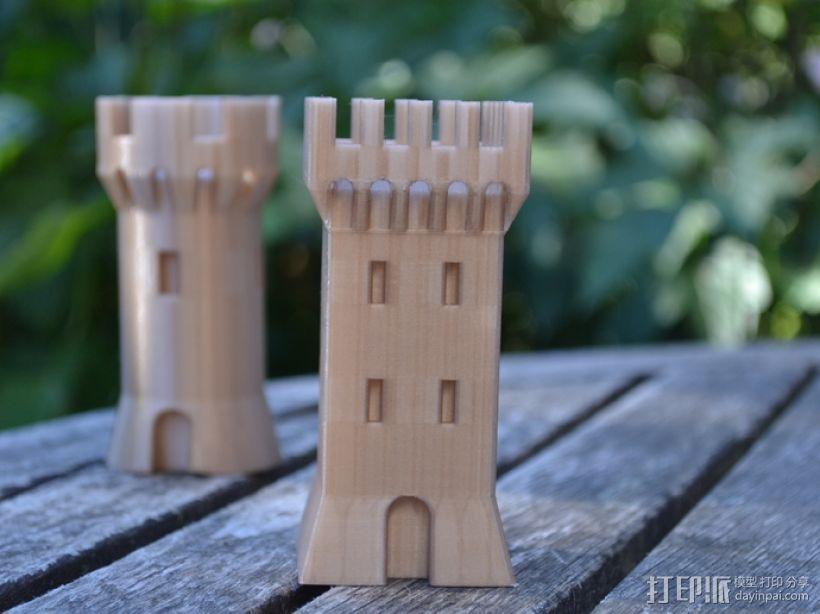 方形塔 3D模型  图1