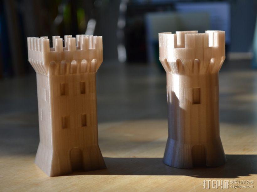 方形塔 3D模型  图3