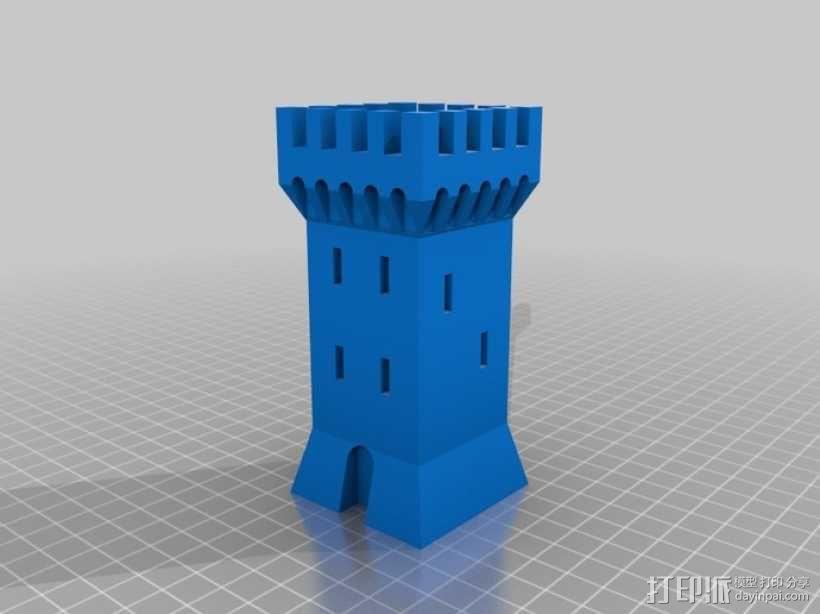 方形塔 3D模型  图2