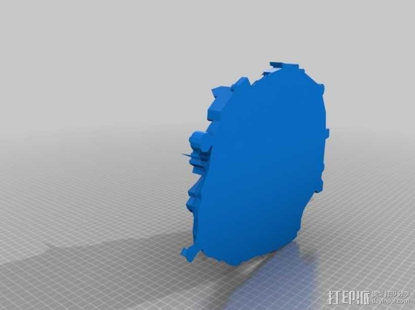圣米歇尔山 3D模型  图1