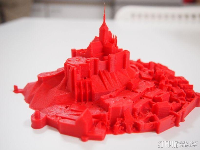 圣米歇尔山 3D模型  图2
