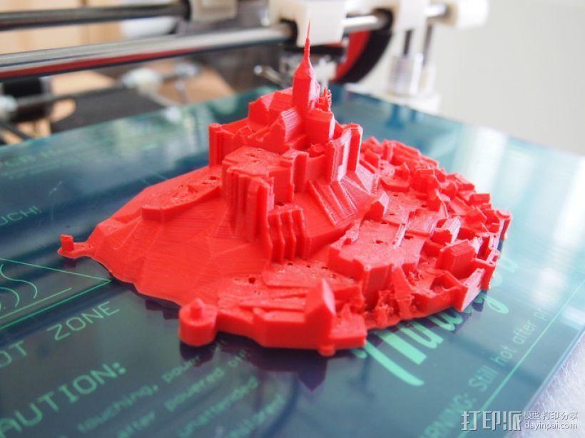 圣米歇尔山 3D模型  图4