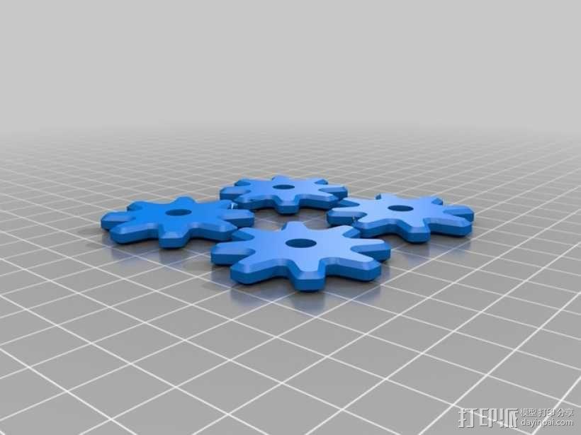 齿轮咖啡杯套 3D模型  图2