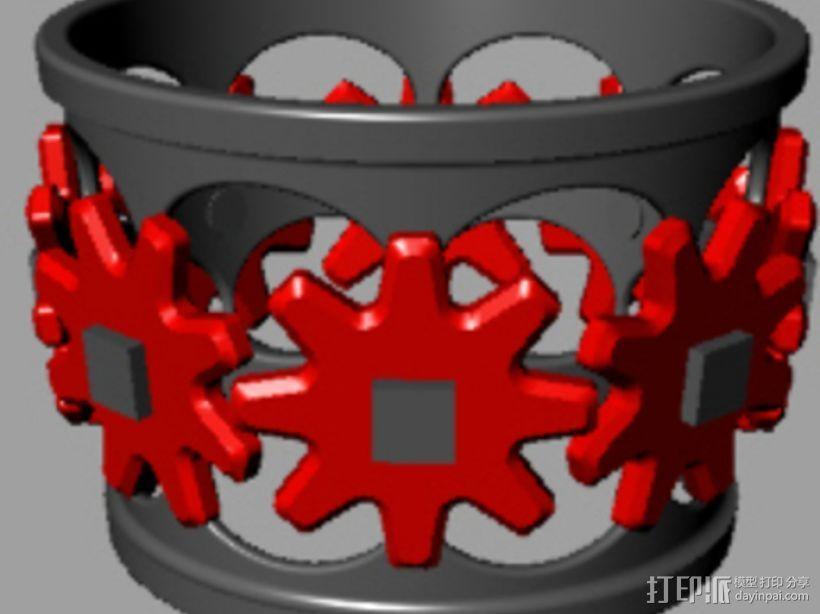 齿轮咖啡杯套 3D模型  图3