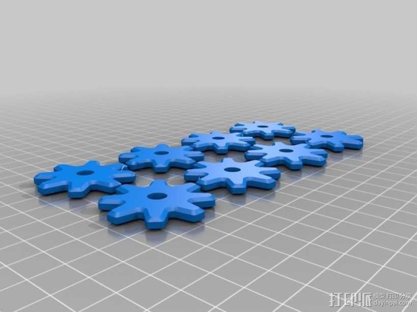 齿轮咖啡杯套 3D模型  图4