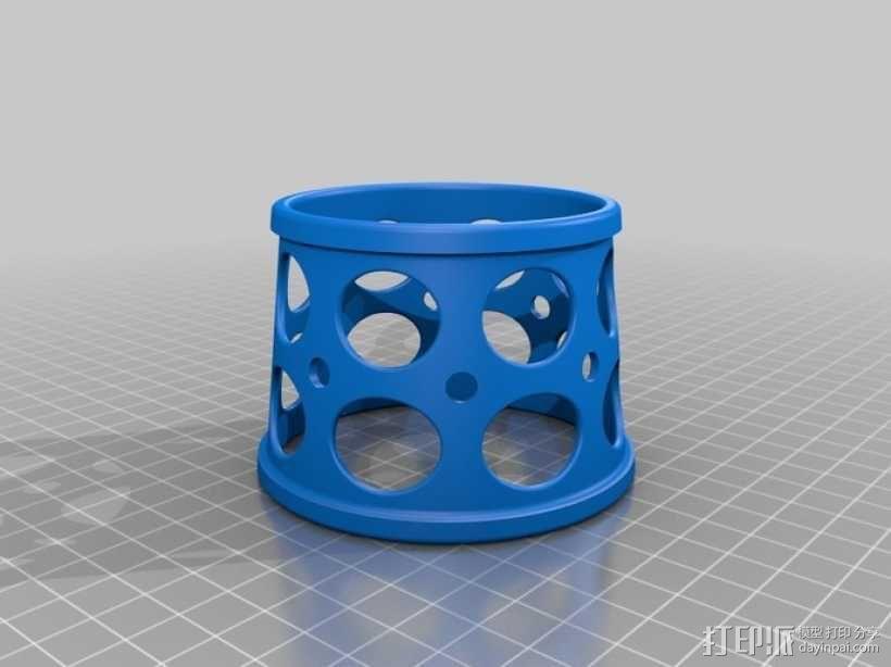 齿轮咖啡杯套 3D模型  图5