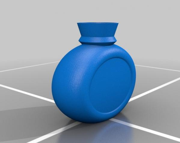 小玻璃瓶 盐瓶 3D模型  图5