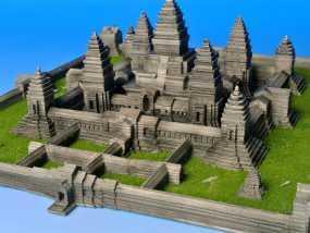 吴哥窟 3D模型