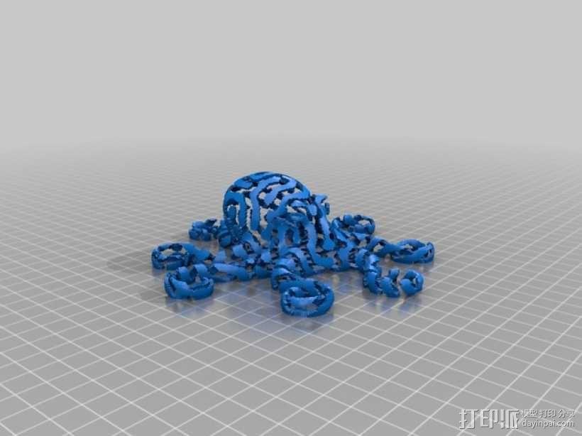 章鱼 3D模型  图2