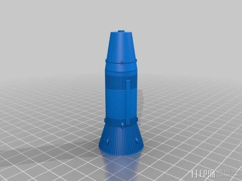 土星5号运载火箭 模型 3D模型  图3