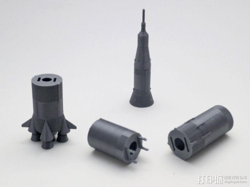 土星5号运载火箭 模型 3D模型  图7