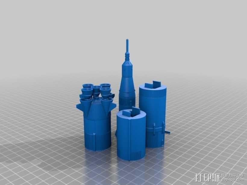 土星5号运载火箭 模型 3D模型  图12