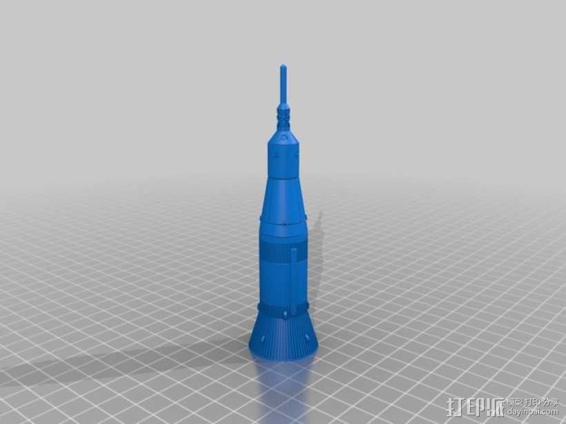 土星5号运载火箭 模型 3D模型  图17
