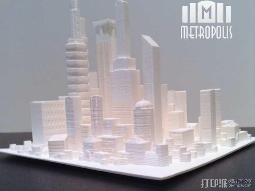 大都市 3D模型  图1