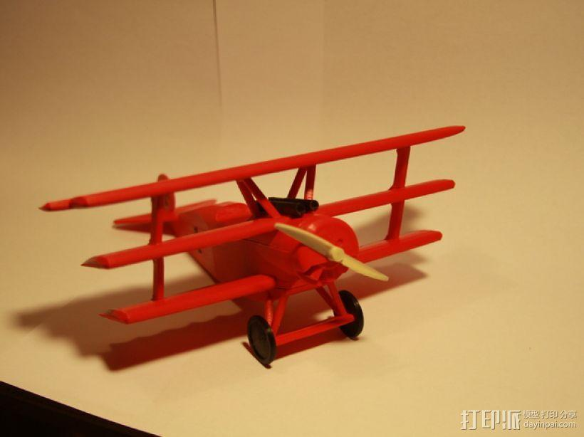 DR.1 三翼飞机 3D模型  图1
