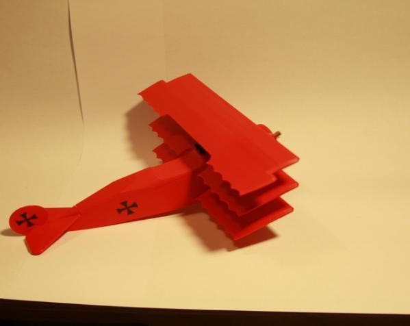 DR.1 三翼飞机 3D模型  图4