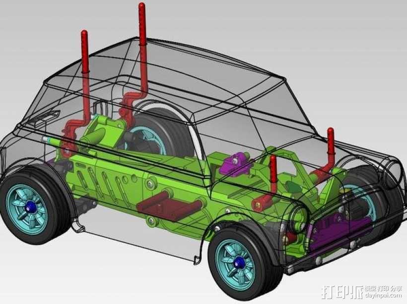 迷你库柏车  3D模型  图1