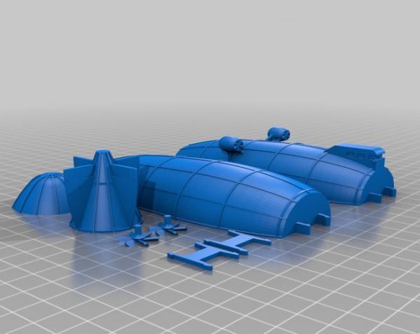 飞船 3D模型  图2