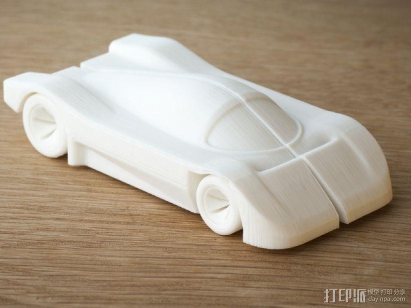 梅赛德斯C9 车 3D模型  图1